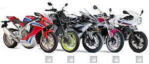 Comparez les modèles motos