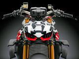 Ducati dévoile le 1100 Streetfighter V4 en version prototype.