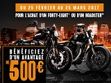 Harley lance une promo sur son Roadster et son Forty-Eight.