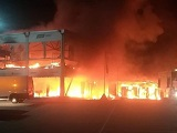 La Coupe du Monde MotoE ravagée par un incendie.