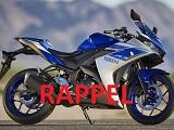 Nouveau rappel pour les Yamaha MT-03 et YZF-R3.