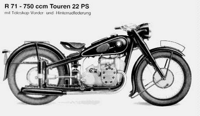 miniature BMW R71 1938 - 2
