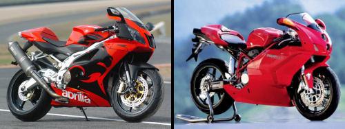 Aprilia RSV-R 1000 2005 vs Ducati 999 2005
