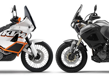 KTM 990 Adventure 2012 vs Yamaha XTZ 1200 Super Ténéré 2012