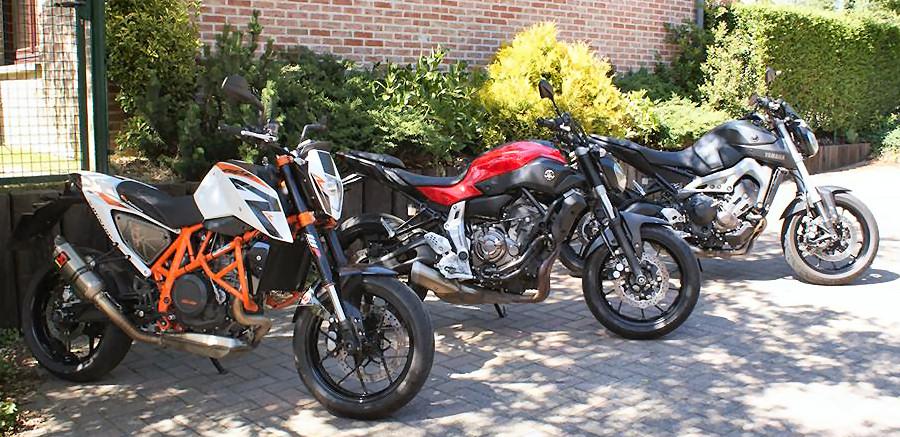 Yamaha MT-07 700 2014 / KTM 690 DUKE R 2014 / Yamaha MT-09 850 2014