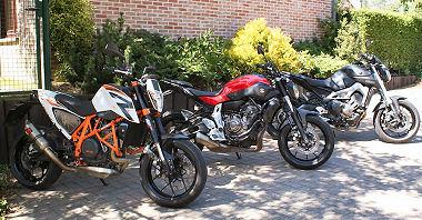 Yamaha MT-07 700 2014 vs KTM 690 DUKE R 2014 vs Yamaha MT-09 850 2014