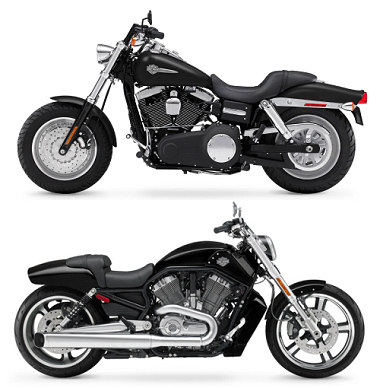 Harley-Davidson 1584 DYNA FAT BOB FXDF 2012 vs Harley-Davidson VRSCF 1250 V-Rod Muscle 2012