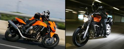 Kawasaki Z 750 2005 vs Yamaha FZ6 600 2005