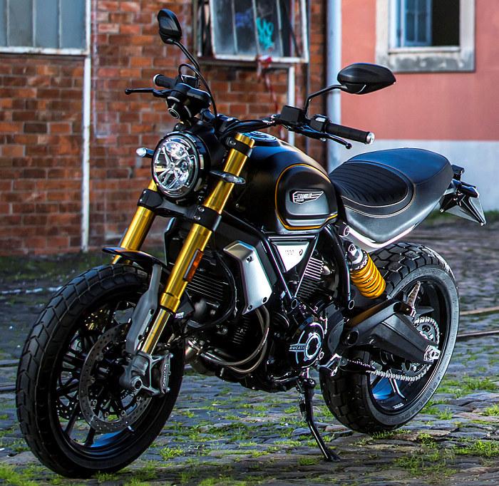 ducati 1100 scrambler sport 2019 fiche moto motoplanete. Black Bedroom Furniture Sets. Home Design Ideas