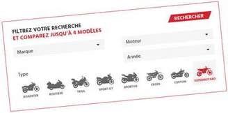 Comparer des motos