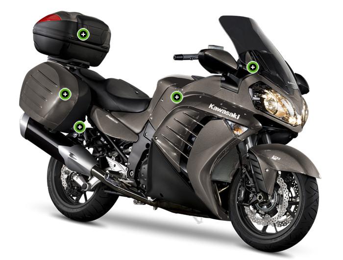 kawasaki 1400 gtr grand tourer 2014 fiche moto motoplanete. Black Bedroom Furniture Sets. Home Design Ideas