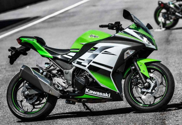kawasaki ninja 300 r 30 me anniversaire 2015 fiche moto motoplanete. Black Bedroom Furniture Sets. Home Design Ideas