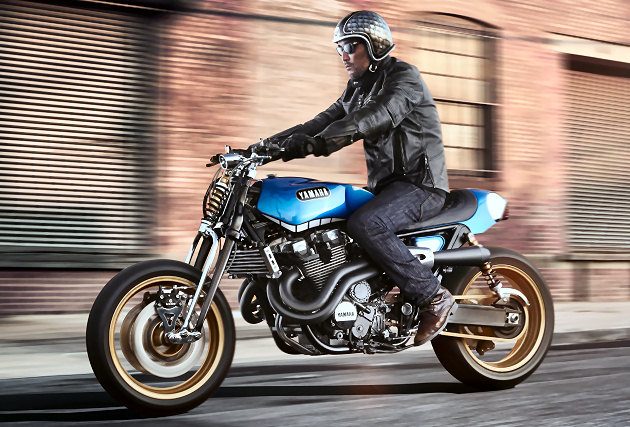 "Nouveau concept Yamaha XJR 1300 ""Rhapsody in Blue ..."