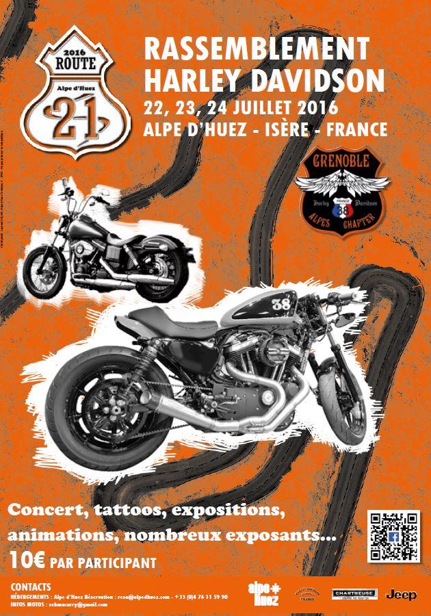 route 21 un nouveau rassemblement harley l 39 alpe d 39 huez actualit moto. Black Bedroom Furniture Sets. Home Design Ideas