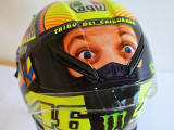 Double-face pour le casque de Rossi.