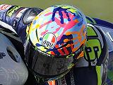 Zoom sur l'AGV PistaGP Rossi spécial Misano.