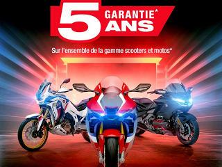 Honda France monte la garantie à 5 ans pour ses motos et scooters.