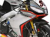Une nouvelle robe argentée pour l'Aprilia 1000 RSV4 du Superbike mondial.
