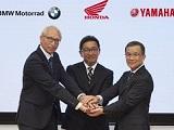 BMW, Yamaha et Honda s'unissent pour développer la moto interconnectée.