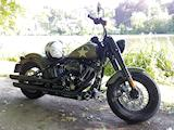 Nico essaye la Harley-Davidson Softail Slim S.