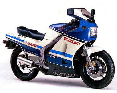 suzuki rg 500 gamma 1985 fiche moto motoplanete. Black Bedroom Furniture Sets. Home Design Ideas