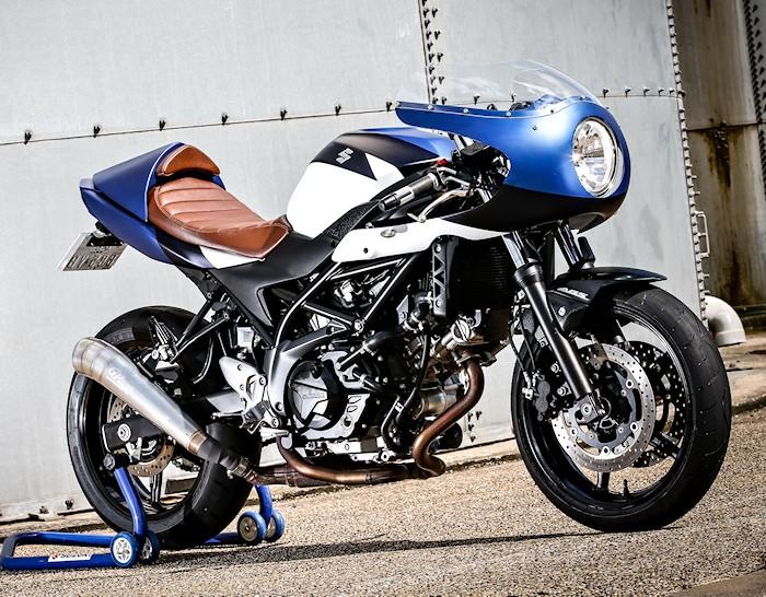 suzuki sv 650 cafe racer par kikishop 2016 fiche moto motoplanete. Black Bedroom Furniture Sets. Home Design Ideas